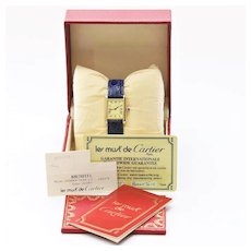 Lady's Vintage Manual Vermeil Silver Cartier Tank Watch