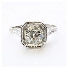 Lady's Edwardian Platinum 1.46 Carat Diamond Ring