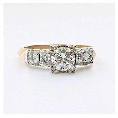 Lady's Vintage 14K Diamond Engagement Ring