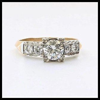 Lady's Vintage 14K Diamond Engagement Ring