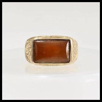 Gent's Vintage 14K Jade Ring