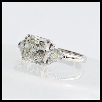 Lady's Platinum Art Deco 2.12 Carat Diamond Engagement Ring