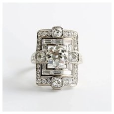 Magnificent Art Deco Lady's 18K Diamond Ring
