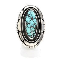 Beautiful Vintage Navajo Silver & Turquoise Ring