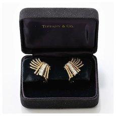 Vintage Sgn. Tiffany & Co. Schlumberger 18K Diamond Earrings
