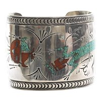 Rare Early Tommy Singer Navajo Cuff Bracelet