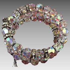 The most beautiful Rosary Bracelet ever!  Crystal with rhinestones in silver.