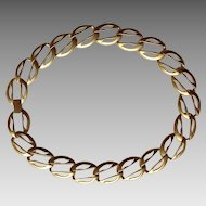 Erwin Pearl 17 inch Goldtone Matte finish Necklace