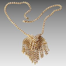 BLING BLING what a necklace!  19 inch and hundreds of prong set rhinestones