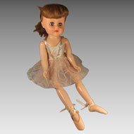"Vintage 18"" Walking Ballerina, Mollye Circle X Doll, 1950s"