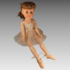 "Vintage 18"" Walking Ballerina, Mollye Circle X Doll, 1950s"