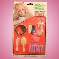 Vintage Myer Mini-Mod Fashion Doll Hair Care Boutique, MIP