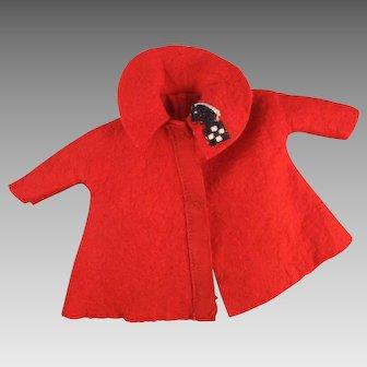 "Vintage Ideal 12"" Shirley Temple ""Felt Coat"" #9766, 1961"