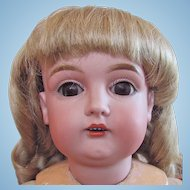 Kestner Child Doll, Bisque Head on Stamped Composition Ball Jointed Body, 24 Inch, 1910s
