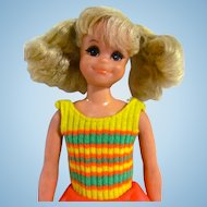 Living Fluff Doll In Original Outfit, Skipper's Playmate, Mattel Vintage 1971