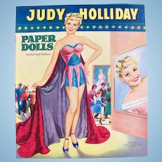 Judy Holliday Paper Dolls Saalfield Vintage 1954 Uncut and Complete