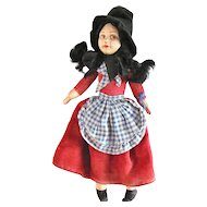 Norah Wellings Cloth Doll, 8-Inch Welsh Girl With Original Tag