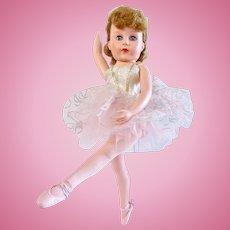 Valentine Ballerina Doll 18-Inch Blonde in Original Outfit Vintage 1950s