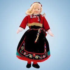 Ronnaug Petterssen Norwegian Girl with Original Label and Provenance Dated 1957