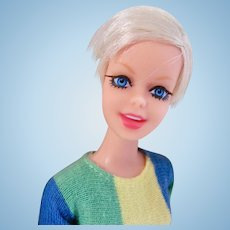 Twiggy Doll in Original Outfit, Barbie's Celebrity Friend, Mattel Vintage 1967
