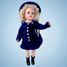 "Mary Hoyer Doll in Wavette Fashion, 14"" Hard Plastic Platinum Blonde"