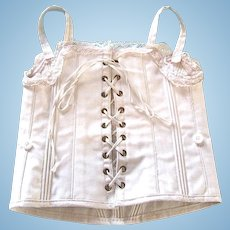 Large Doll Corset, Size 11, French Circa Late 19th Century