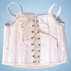 Antique Doll Corset For Poupée or Bébé, Size 12, French Circa 19th Century