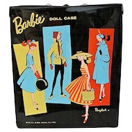 Barbie Doll Case Black Vinyl Ponytail Vintage 1960s