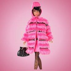 Fuchsia 'N Fur Silkstone Black Francie Doll MIB Sealed in Original Shipper, Mattel, 2012
