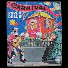 Vintage 1944 Carnival Paper Dolls, Saalfield, Complete Uncut Original Set