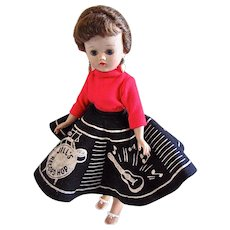Vogue Jill Doll, Brunette Ponytail in Record Hop Fashion 7506, Circa 1957 - Red Tag Sale Item