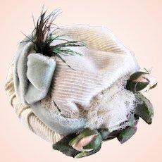 Sale!  19th Century French Doll Bonnet, Fits Petite Bébés and Poupées