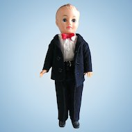 Vogue Jeff Doll in Outfit 6380, Navy Wool Suit, Circa 1958