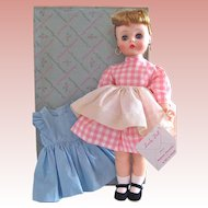 Mme. Alexander Edith The Lonely Doll MIB with Extra Dress, Vintage 1950s