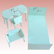 Vogue Jill and Jan Doll Furniture, Bed, Chair, Vanity, Bench, Vintage 1958
