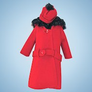 Barbie Fashion 819, It's Cold Outside, Red, Mattel Vintage 1964