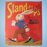 Stand-ups The Tale of Peter Rabbit, Uncut, Saalfield, Vintage 1934