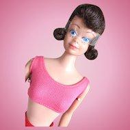 Brunette Midge Doll in Original Swim Suit, Mattel, Vintage 1963