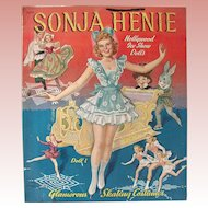 Sonja Henie Hollywood Ice Show Dolls, Uncut Paper Dolls, Merrill, Circa 1941