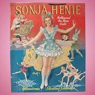 Sonja Henie Hollywood Ice Show Dolls, Uncut Paper Dolls, Merrill, Circa 1941