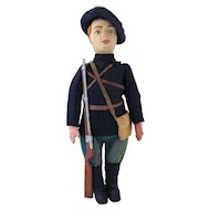 French W.W.I Soldier by Emile Lang, All Original with Paper Label, Circa 1916