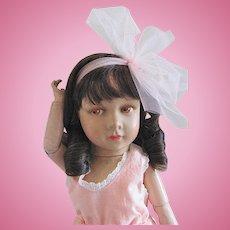 Rare French Variation, 18-Inch Princess Elizabeth Doll, Unique Neck Attachment, Circa 1938
