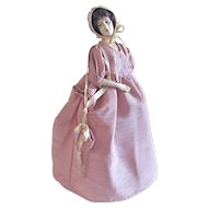 Half-Doll Lamp Shade, All Original, Circa 1930s