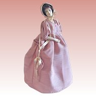 Half-Doll Lamp Shade, All Original, Circa 1930s