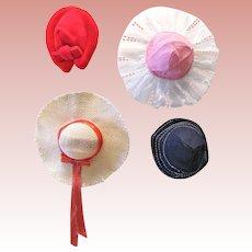 Skipper Hats 'n Hats, Complete Set of 4, Mattel Vintage 1965