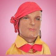 Male Boudoir Doll in Pirate Costume, All Original, Circa 1930s
