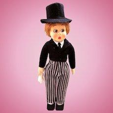 Lenci Doll, 19-Inch, Googly-eyed Gentleman, Circa 1931