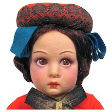 Lenci  Italian Girl 14-Inch Doll in Original Box Circa 1938