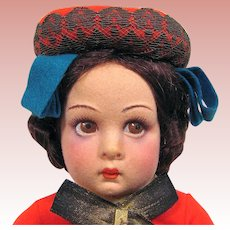 Lenci  Italian Girl 14-Inch Doll in Original Box Circa 1938