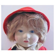 Chad Valley Bambino, 14-Inch Doll, All Original, Circa 1920s